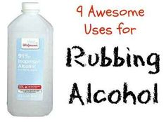 Check out these 9 awesome uses for Rubbing Alcohol. #diytips #budgettips