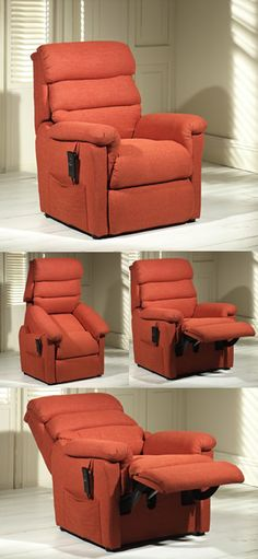 A riser recliner is a chair will put in an a near upright position so that you don't have to put the stresses and strain on your joints and muscles