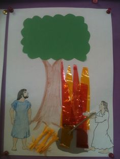 Lesson 12 Gideon strengthened for the battle. For this lesson we made a picture of Gideon with the wheat that he had threshed and the angel when he set fire upon the rock and consumed the food that Gideon had prepared for him. Angel Crafts, Sunday School Crafts, Bible Crafts, Old Testament, Bible Lessons, Sabbath, The Rock, Bulletin Boards, Holiday Crafts