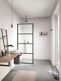 Let's Talk Vessel Sinks & Wall-Mount Faucets Moderne Boho Badezimmer Waschbecken Betonböden