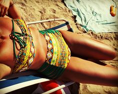 Tribal vintage swimsuit Photocredit: me
