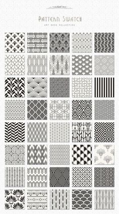 Pattern design art deco seamless patterns bundle by jessika on creative market – design Motif Art Deco, Art Deco Design, Art Designs, Design Design, Vector Design, Art Deco Art, 1920s Art Deco, Art Art, Boho Pattern