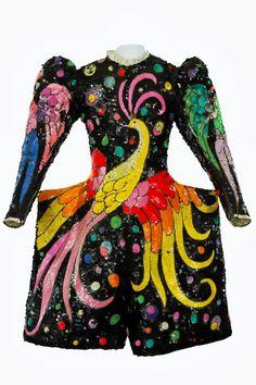 Sac pailleté à motif de paon, conçu par Charles Vicaire et réalisé par l'Atelier Vicaire, années 1970, Coll. Jacob-William.