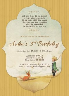 Little prince party planning ideas supplies idea cake decorations the little prince baby shower invitation le by designwithsusana filmwisefo