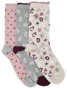 M/&Co Boys Argyle Shark Socks Four Pack