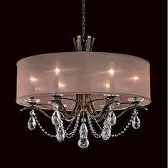 Features:  -Socket type: E12.  -Made in the USA.  -Vesca collection.  Country of Manufacture: -United States.  Bulb Wattage: -60 Watts.  Chandelier Type: -Drum chandelier.  Number of Lights: -6.  Bulb