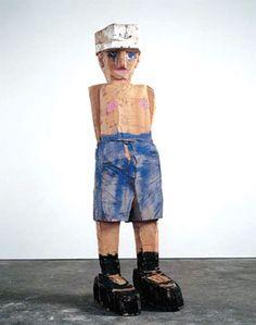 """Georg Baselitz - """" Meine neue Mütze (My New Cap)"""", 2003 - Oil on cedar wood - 312 x 88 x 101 cm Abstract Sculpture, Wood Sculpture, Art Cart, Paul Cezanne, Thing 1, Art Moderne, Artist Life, Berlin, Art History"""