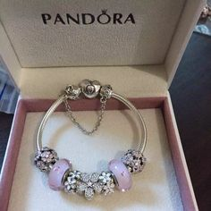 50% OFF!!! $219 Pandora Charm Bracelet. Hot Sale!!! SKU: CB01444 - PANDORA Bracelet Ideas