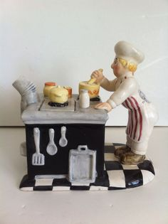 """Collectible Ceramic Teapot """"Chef At Work"""" Handcrafted Exclusively For Lotus"""