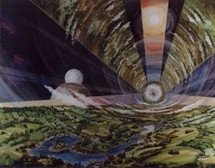 NASA Space Colony Art from the 1970s | inspiration