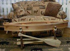 Natural Cedar Canoe Coffee Table