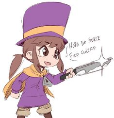 See more 'A Hat in Time' images on Know Your Meme! Hollow Art, Anime City, A Hat In Time, Girl With Hat, Memes, Cute Kids, Game Art, Character Art, Video Game