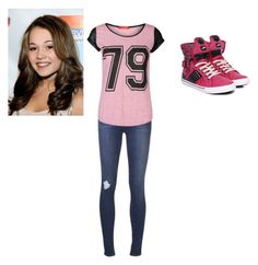 """Bree Davenport"" by emily-koschella ❤ liked on Polyvore featuring J Brand, Influence and Pastry"