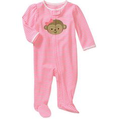 Child of mine sleep and play striped monkey pj& for at Walmart. Baby Outfits, Outfits Niños, Kids Outfits, Carters Baby Girl, My Baby Girl, Baby Girl Newborn, Toddler Girl, Baby Girls, Baby Barbie