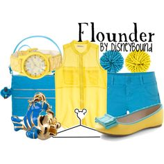 """Flounder"" by lalakay on Polyvore #disney"