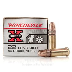 Winchester Super-X 22 LR Ammo - 500 Rounds of 40 Grain Copper Plated Round Nose Ammunition Winchester Ammo, 22lr, Grains, Copper, Brass, Seeds, Korn