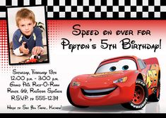 Cars Birthday Invitation Template Luxury Cars Party Hudson S Birthday Party Ideas - Simple Template Design Lightning Mcqueen Party, Lightening Mcqueen, Cars Birthday Invitations, Free Birthday Invitation Templates, Wedding Invitations, Race Car Birthday, Cars Birthday Parties, 4th Birthday, Birthday Stuff