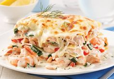 Salmon and shrimp lasagna – 5 ingredients 15 minutes – Foods and Drinks Healthy Cooking, Cooking Recipes, Healthy Recipes, Oreo Frappe, Fish Recipes, Seafood Recipes, Sauerkraut, Easy Diner, Salmon And Shrimp