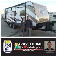 Congratulations to Roger & Dianne On the purchase of their Cougar 21RBS #traveltrailer from Miles! #camping #Travel #Travelhome #vacation #RVing #cougarrv