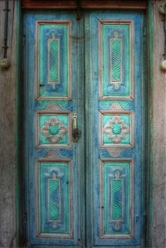 Blue doors on Pinterest