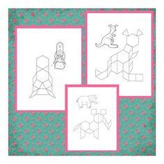 Printable pattern block cards