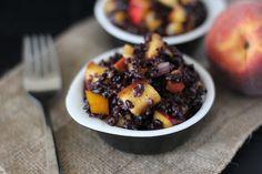 Honey Peach and Tomato Black Rice Salad // Fake Food Free