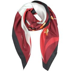 Laura Biagiotti Square Scarves Floral Print Silk Square Scarf (96 CAD) ❤ liked on Polyvore featuring accessories, scarves, burgundy, floral scarves, floral print scarves, laura biagiotti, floral shawl and silk scarves