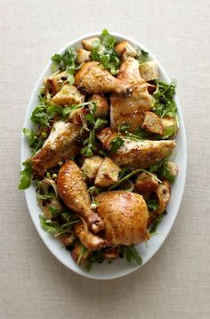 Roasted Chicken with Warm Bread Salad | Williams-Sonoma Taste