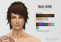 Sims 4 CC's - The Best: Male Hair by Hal's Archive