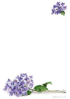 Postpapier 24 vellen A4 Blauwe hortensia - Floris | Meerleuks