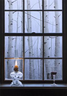 """Aspen Window"" by Alexander Volkov, oil painting."