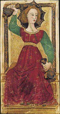 La Tempérance, Tarot dit de Charles VI, fin du XVe siècle, Italie du Nord