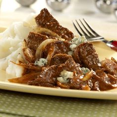 Gorgonzola cheese is an elegant topping for this hearty and unique steak dinner lovely enough to serve for company.