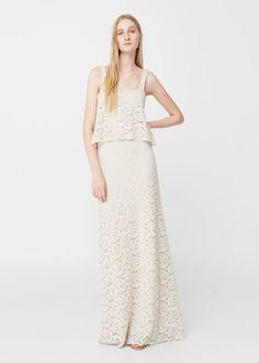 Guipure gown   MANGO