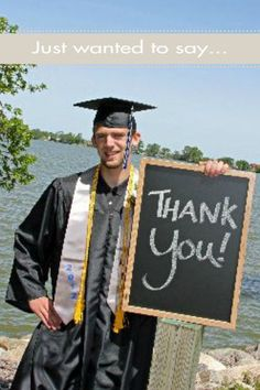 Graduation Thank You Cards: Customize your own today. Graduation Party Planning, College Graduation Parties, Graduation Celebration, Graduation Decorations, Grad Parties, Graduation Ideas, Graduation Open Houses, 8th Grade Graduation, Graduation Thank You Cards
