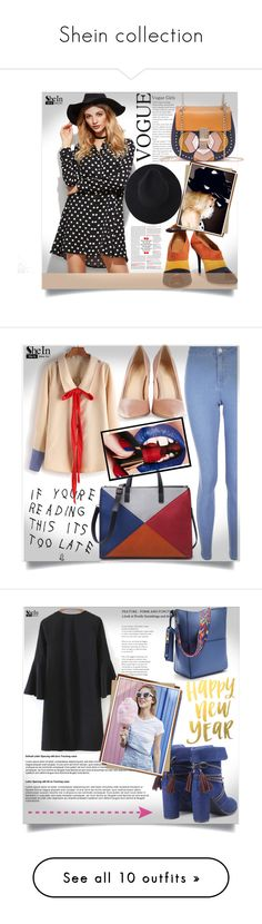 """Shein collection"" by almedina-86 ❤ liked on Polyvore featuring shein, Malone Souliers, New Look, WithChic, Balmain, Rodo, Christian Louboutin, Simplex Apparel, EAST and Current/Elliott"