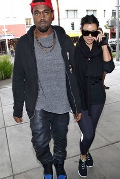 Kanye West is a role model for hip hop fashion with the gold chains, hats, etc.