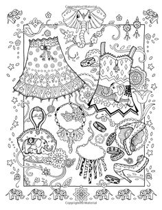Fanciful Fashions Coloring Book: Marjorie Sarnat