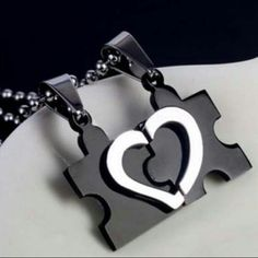 Love You To Pieces, Stainless Steel Puzzle Love Heart Pendant. Couple Items, Love You To Pieces, Taehyung, Jewelry Gifts, Unique Jewelry, Love Heart, Pendants, Stainless Steel, Pendant Necklace