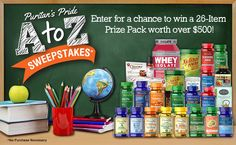 Enter for a chance to win a 26-item prize pack worth over $500!