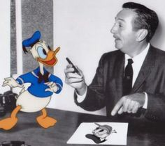 Image result for Walt Disney with Donald Duck