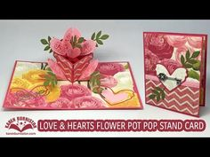 VIDEO - Love & Hearts Flower Pot Pop Stand (Giveaway!)