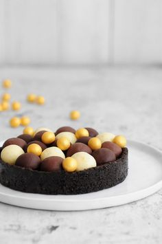 chocolate truffles tart