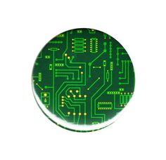 Green Circuit Board Button Badge Pin 44mm 58mm Geek Nerd Wires Transformers Gift