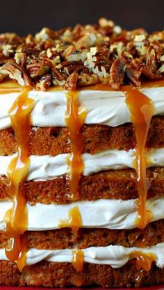 Caramel Apple Mousse Cake ... so perfect for a special Fall Dessert!