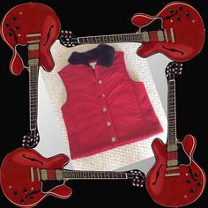 Red and faux fur vest Red Charter Club vest, faux fur collar, silver buttons, size small, good condition. Charter Club Jackets & Coats Vests