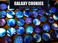 I am a Cub Scouts leader, and tonight is our Space Derby! I was in charge of refreshments, so I came up with these Galaxy cookies. I think they go along great with the space theme of the night! Th...