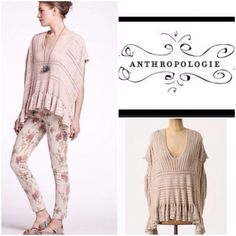 Anthropologie pretty soft knit top This is a great top to throw on over anything from dresses to jeans, so pretty and feminine Anthropologie Tops