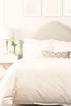 There's nothing like falling asleep on crisp beautiful white bedding. Get the look at craneandcanopy.com.
