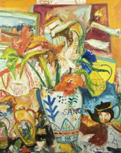 John Bellany (b.1942) Flowers of Janitzio Oil on canvas, 150 x 120cm Signed Previously on sale at Adam's. www.adams.ie